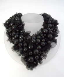 Wrapped Pearl Necklace_Black